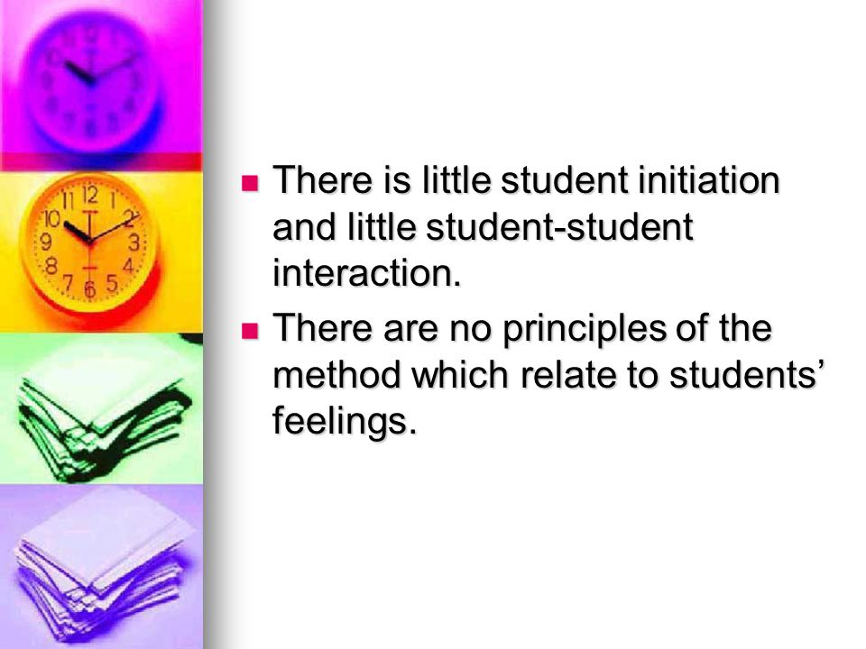 There is little student initiation and little student-student interaction.