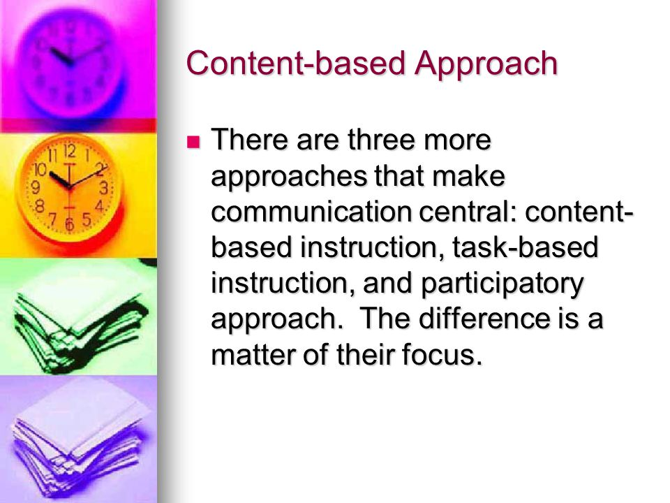 Content-based Approach