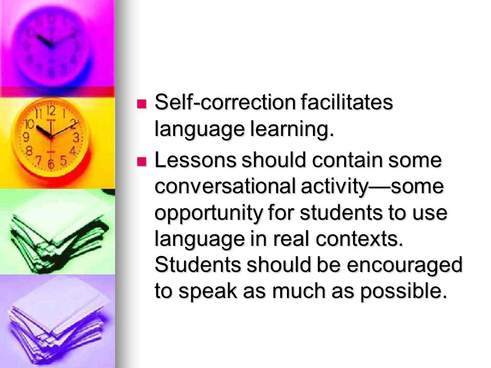 Self-correction facilitates language learning.