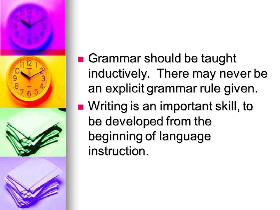 Grammar should be taught inductively
