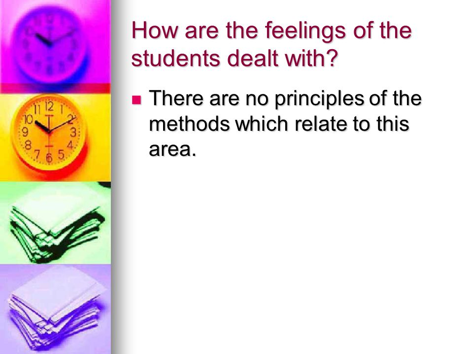How are the feelings of the students dealt with