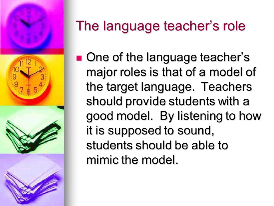 The language teacher's role
