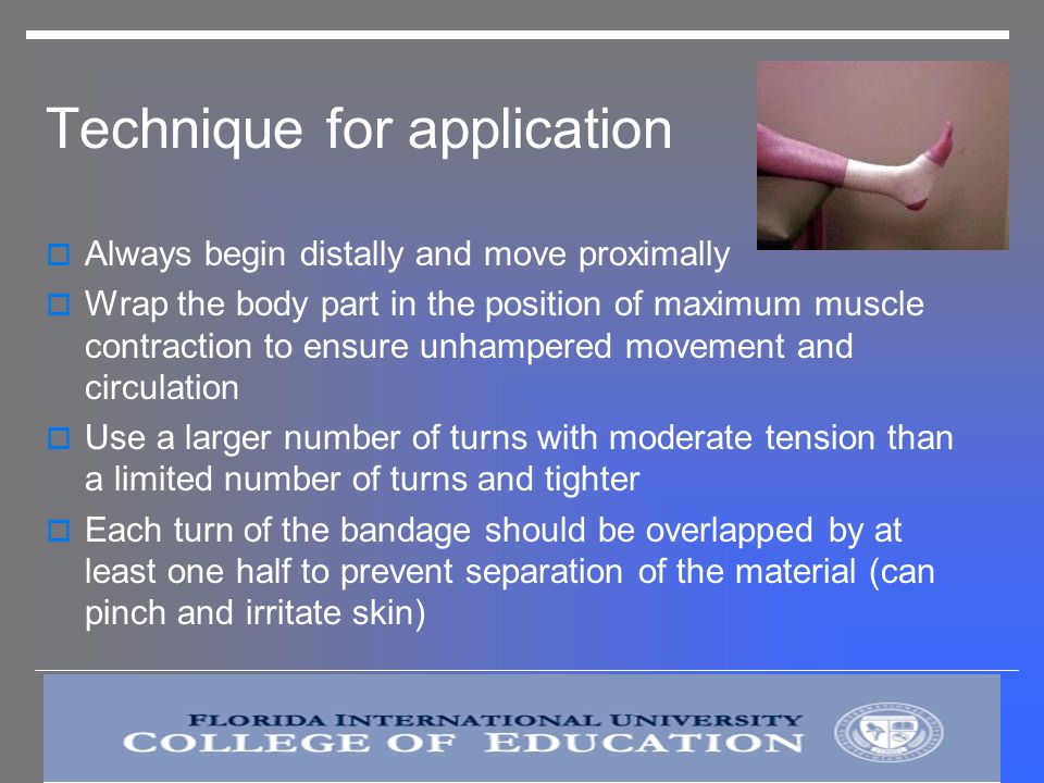 Technique for application