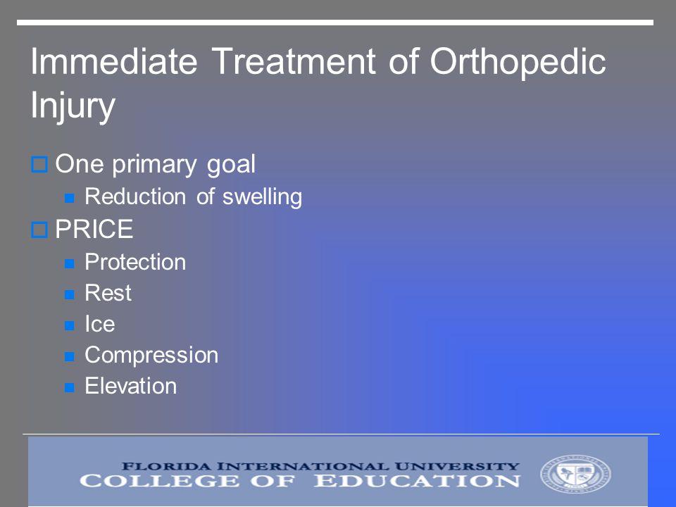 Immediate Treatment of Orthopedic Injury