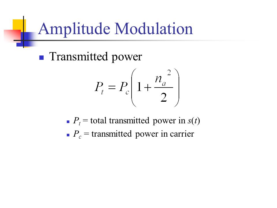 Amplitude Modulation Transmitted power