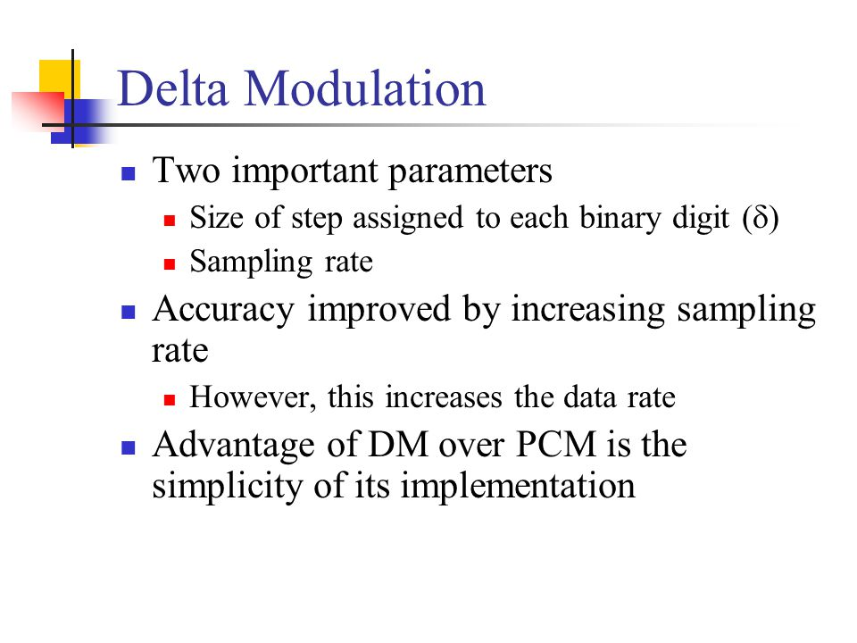 Delta Modulation Two important parameters
