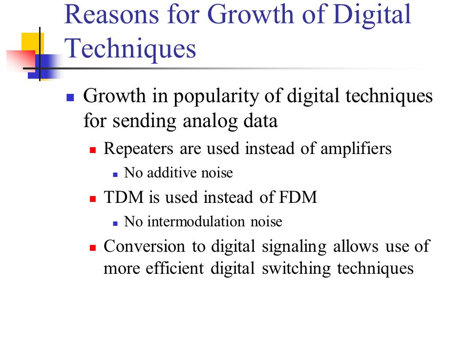 Reasons for Growth of Digital Techniques