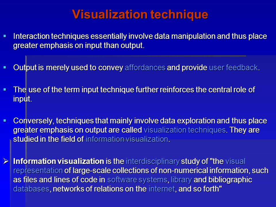 Visualization technique