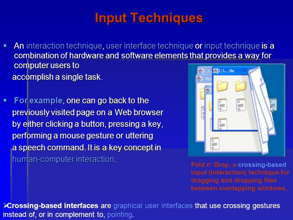 Input Techniques