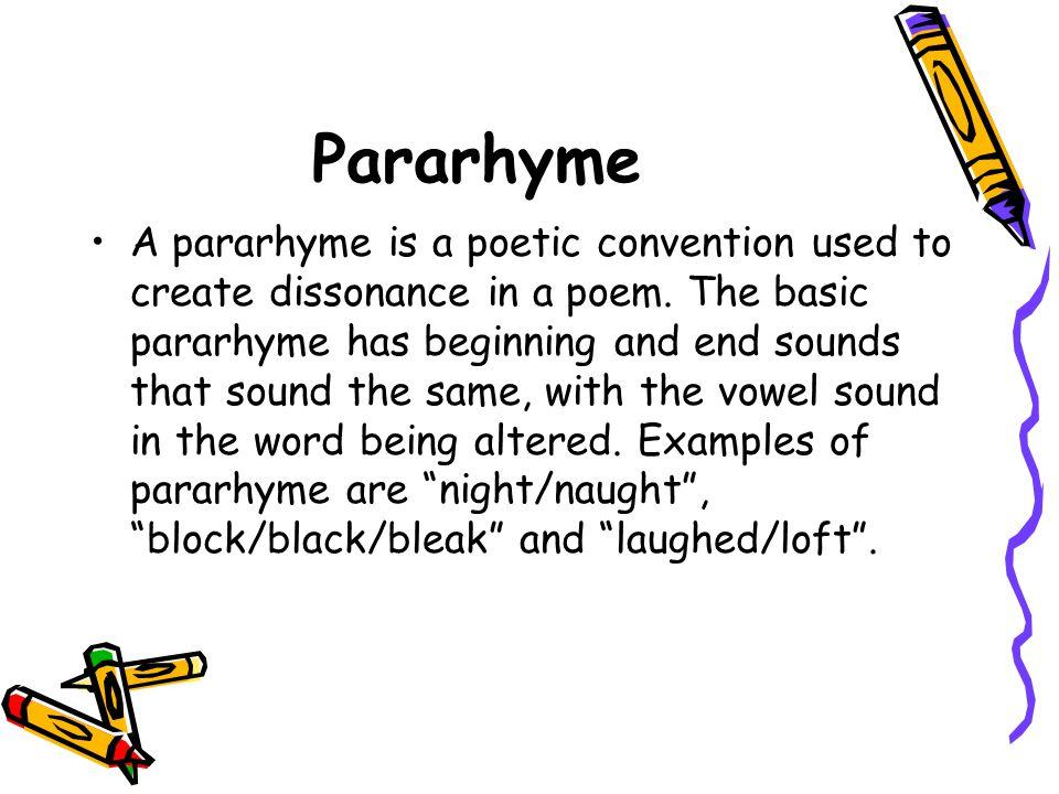 Pararhyme