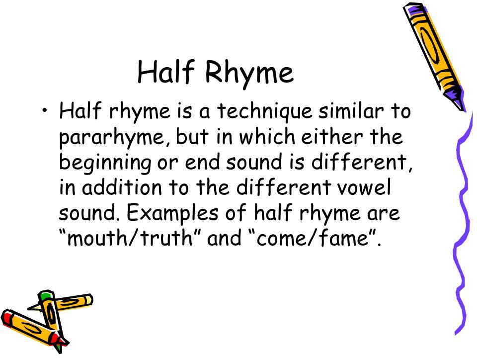 Half Rhyme