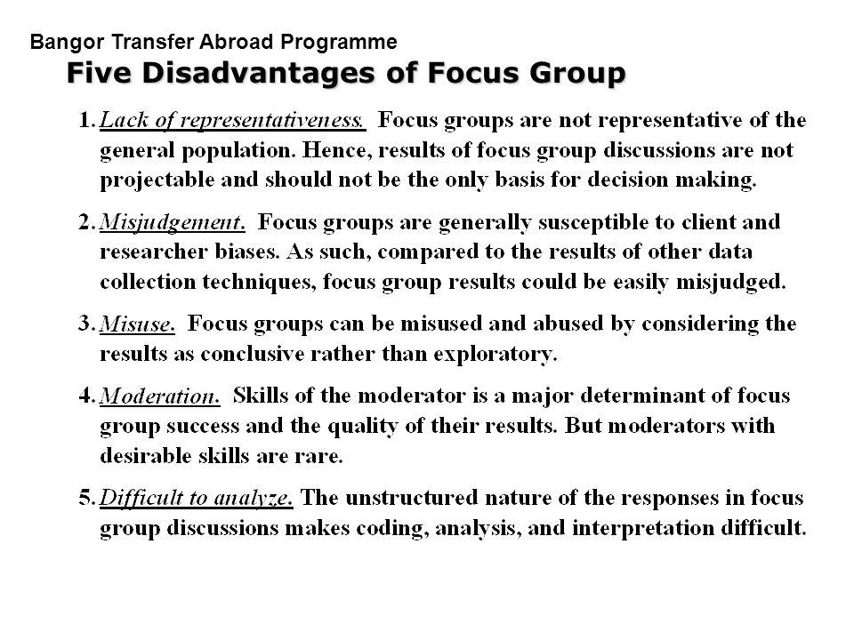 Five Disadvantages of Focus Group