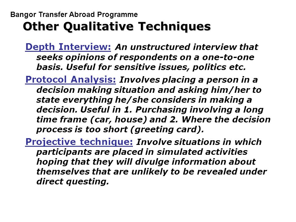 qualitative research interview protocol template - qualitative techniques in marketing research ppt video