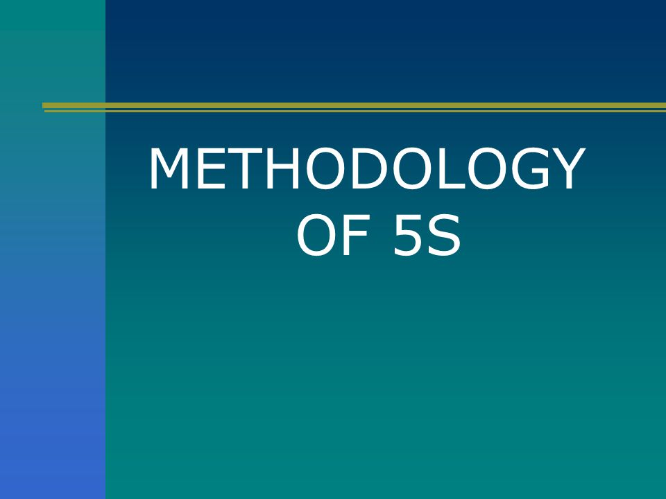 METHODOLOGY OF 5S