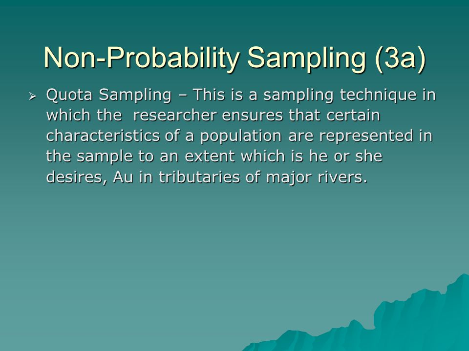 Non-Probability Sampling (3a)