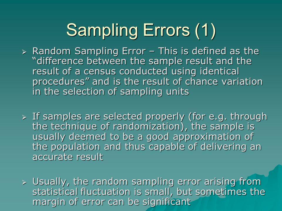 Sampling Errors (1)