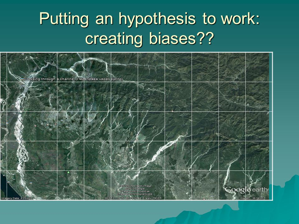 Putting an hypothesis to work: creating biases