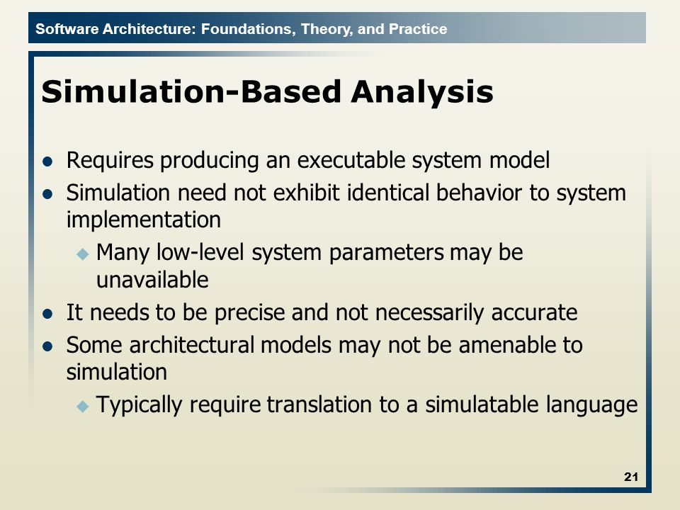 Simulation-Based Analysis