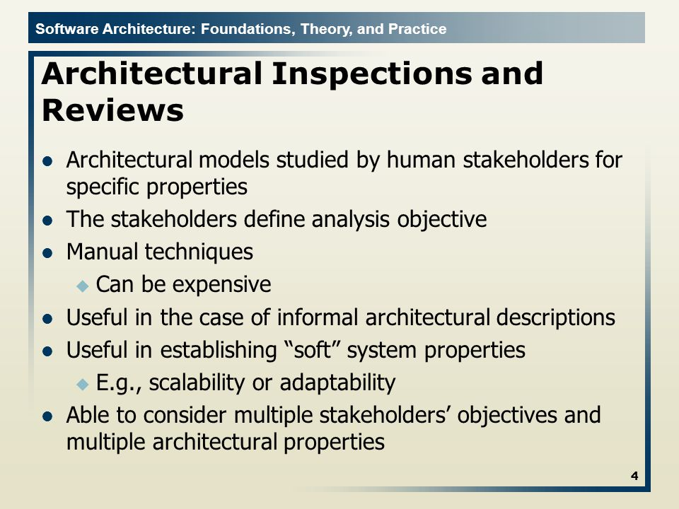 Architectural Inspections and Reviews