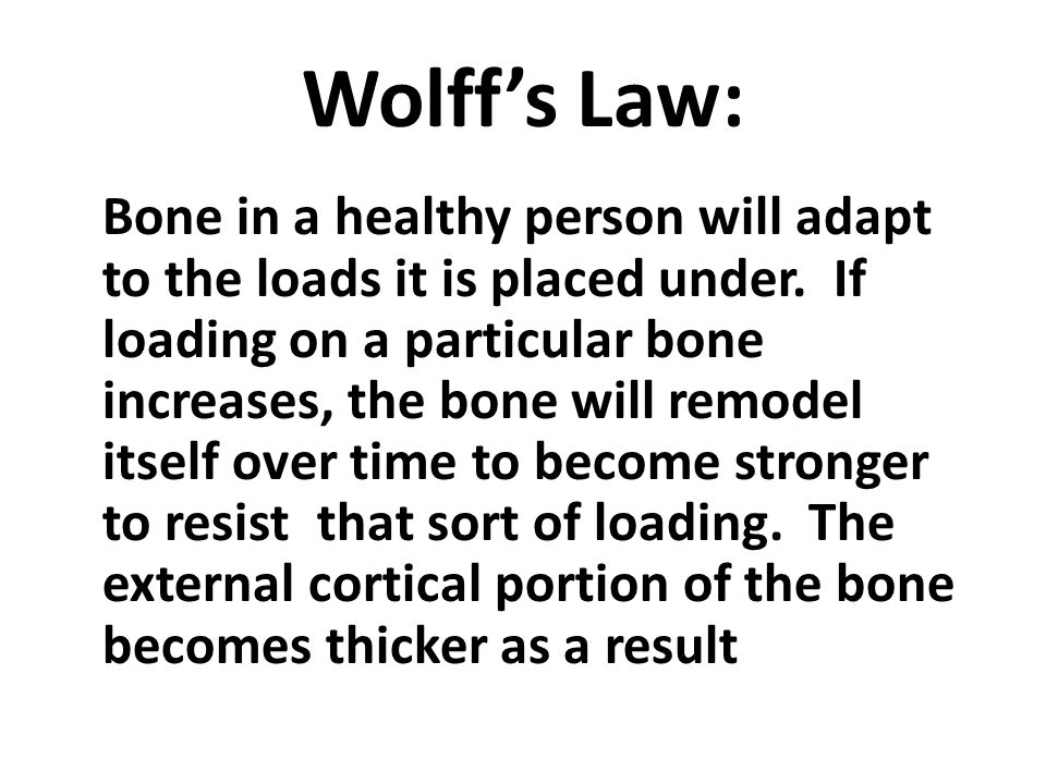 Wolff's Law:
