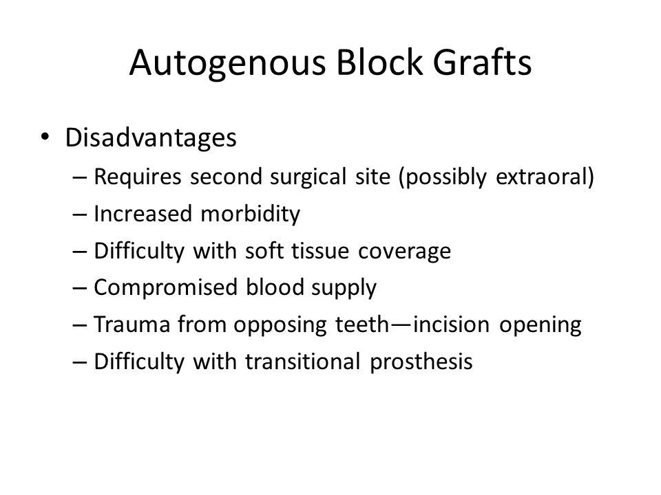 Autogenous Block Grafts