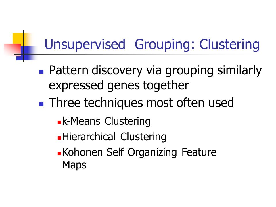 Unsupervised Grouping: Clustering