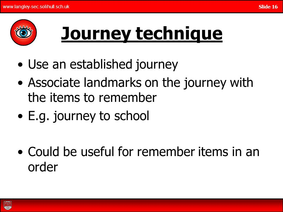 Journey technique Use an established journey