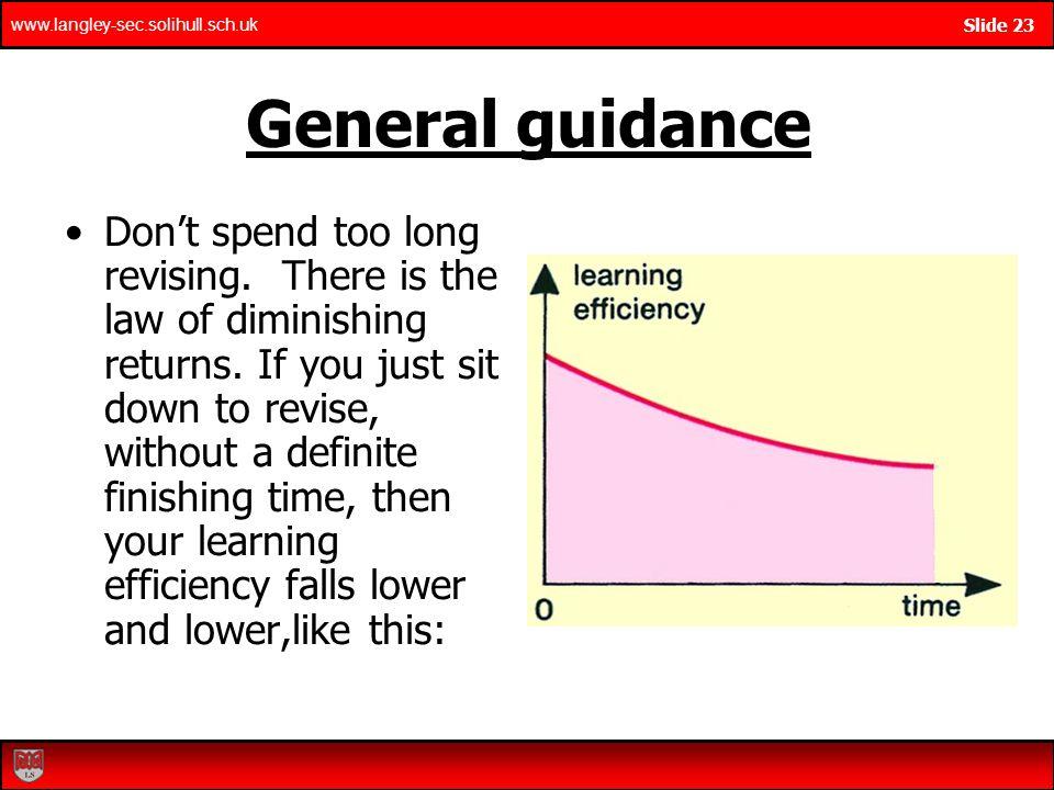General guidance