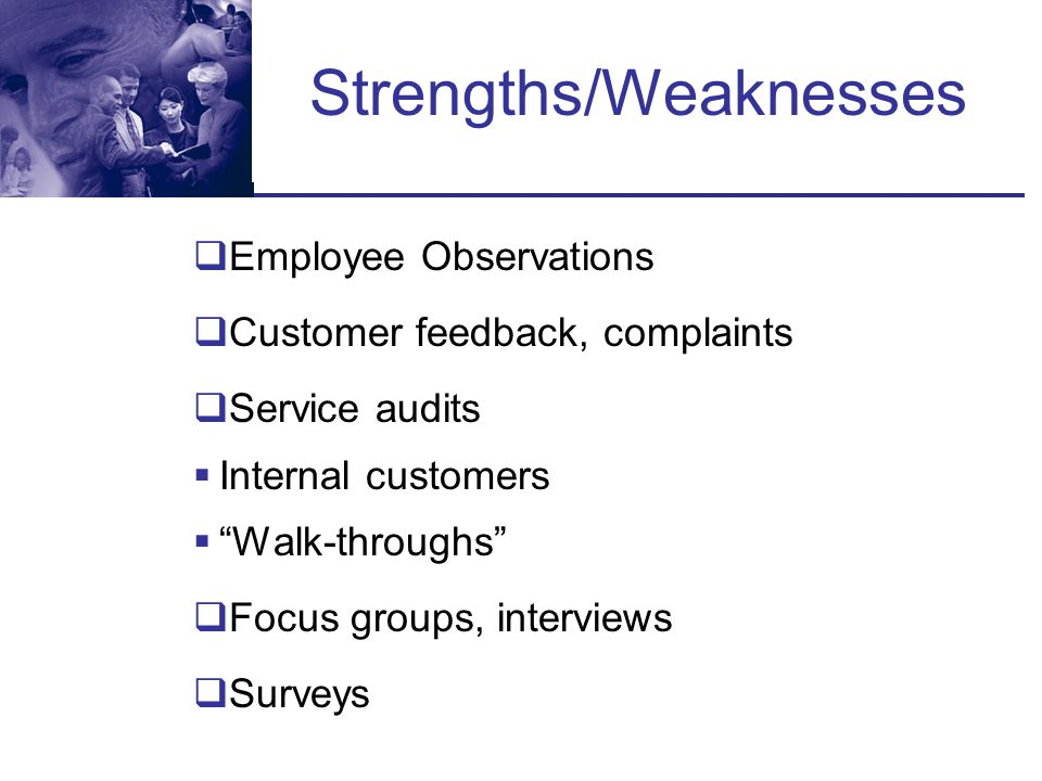 Strengths/Weaknesses