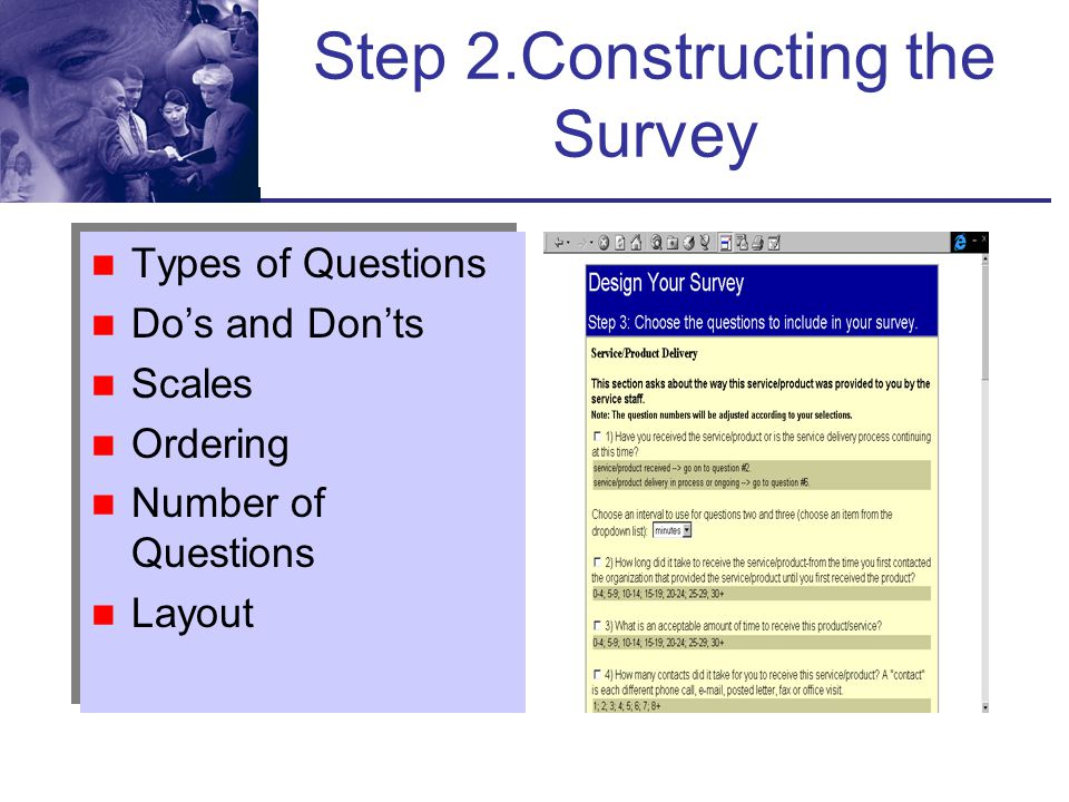 Step 2.Constructing the Survey