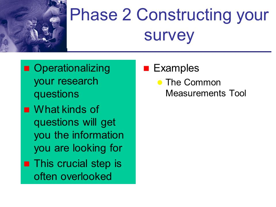 Phase 2 Constructing your survey