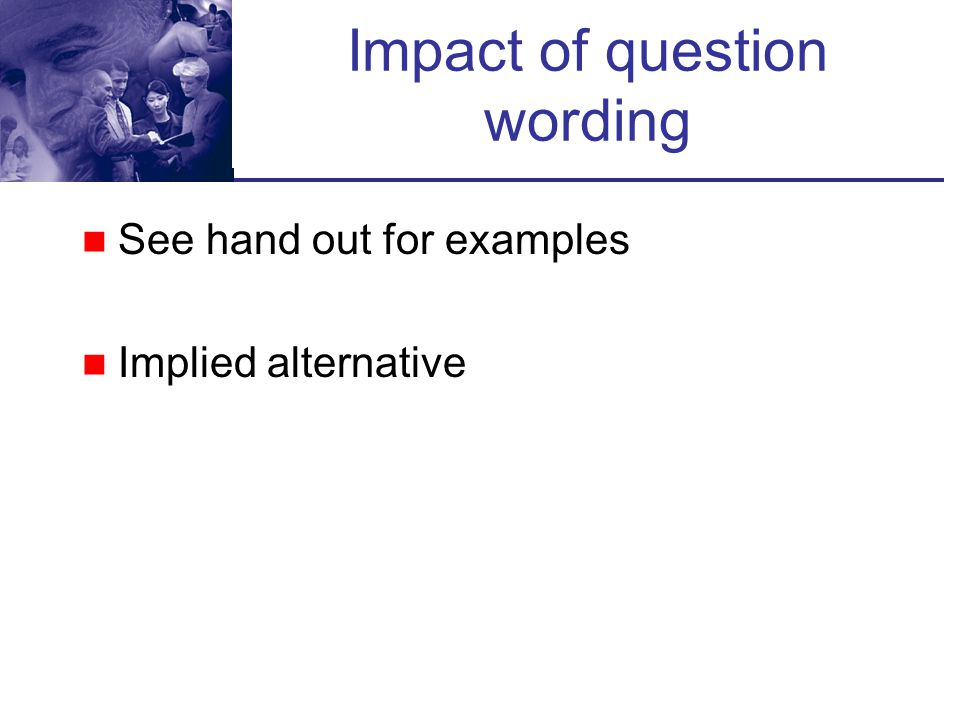 Impact of question wording