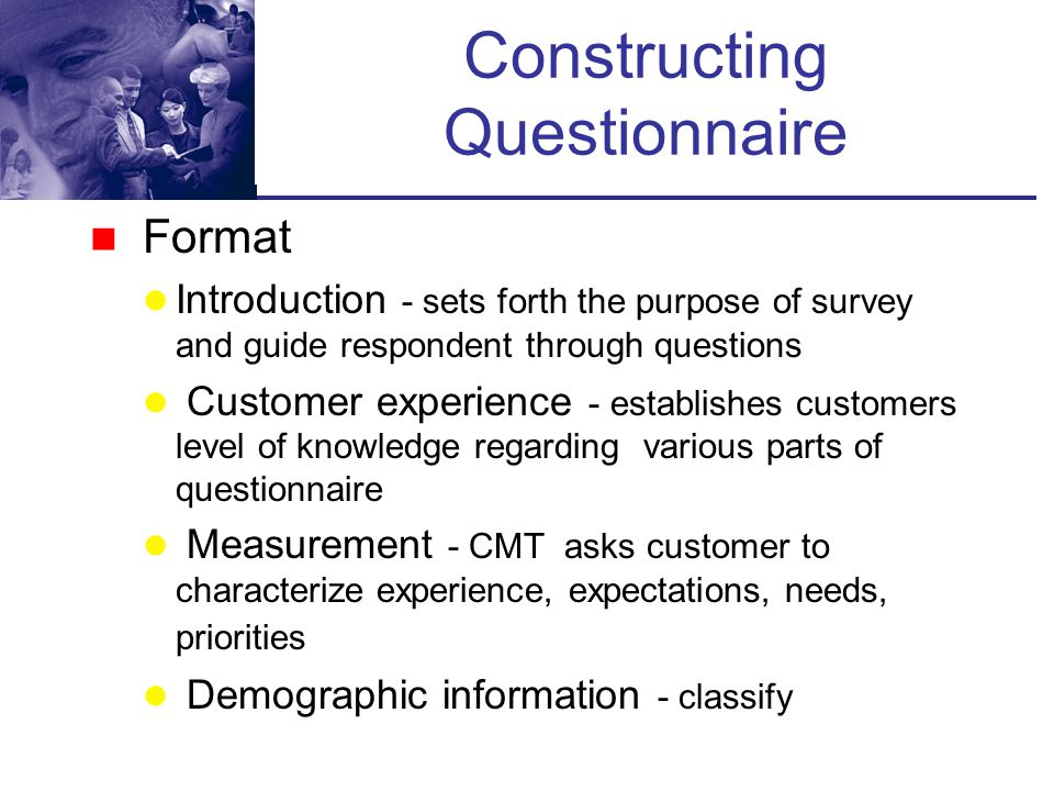 Constructing Questionnaire