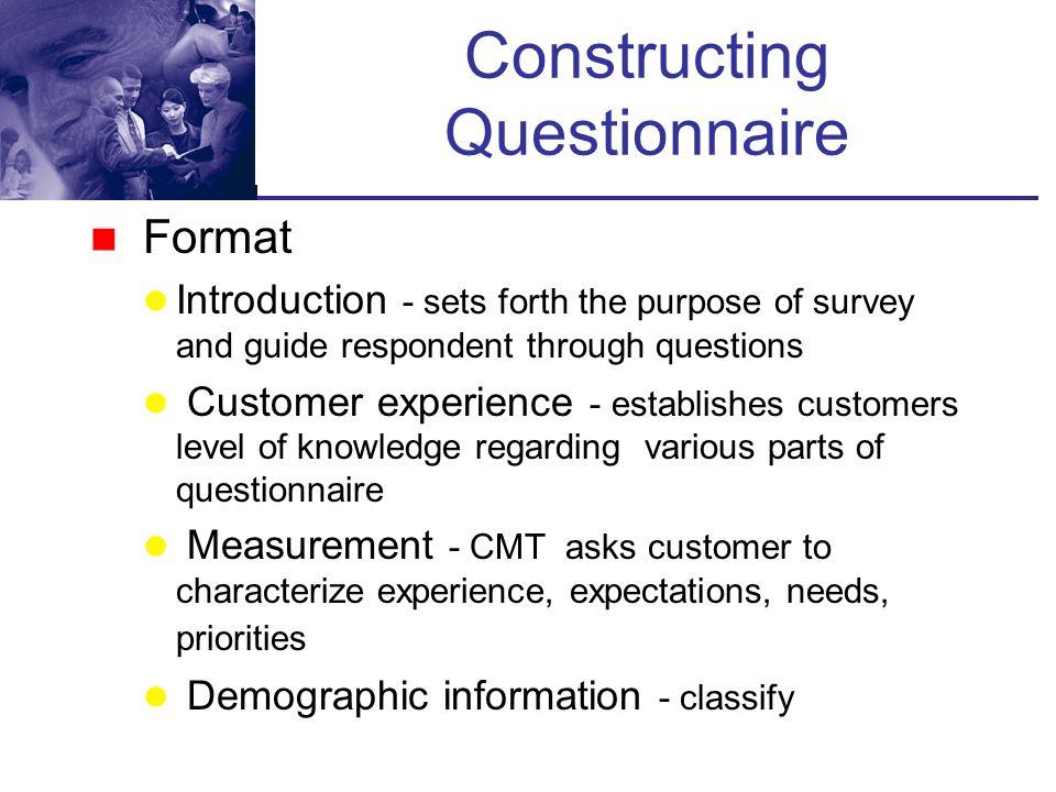 Constructing Questionnaire