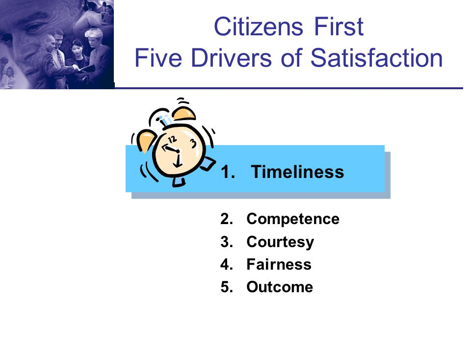 Citizens First Five Drivers of Satisfaction