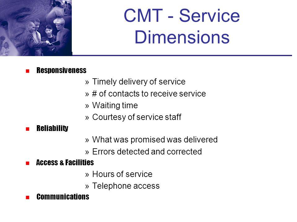 CMT - Service Dimensions