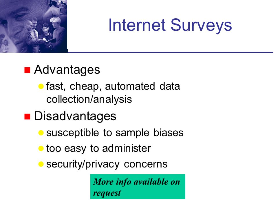 Internet Surveys Advantages Disadvantages