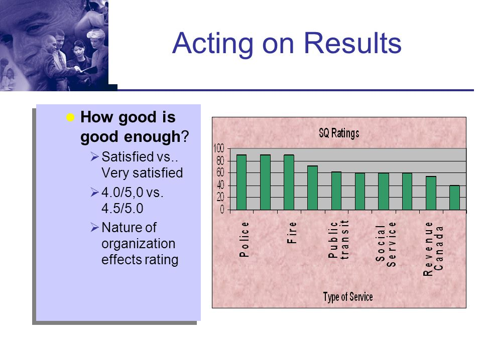Acting on Results How good is good enough
