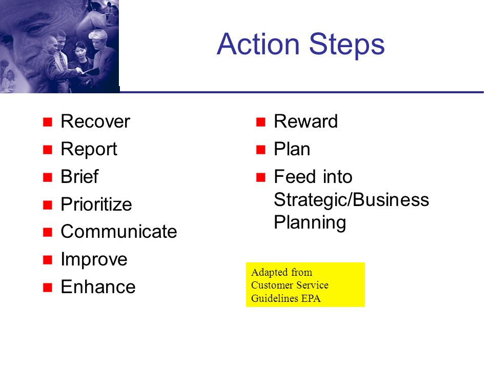 Action Steps Recover Report Brief Prioritize Communicate Improve