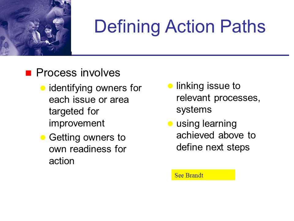 Defining Action Paths Process involves