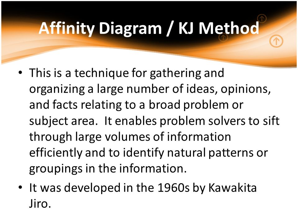 Affinity Diagram / KJ Method