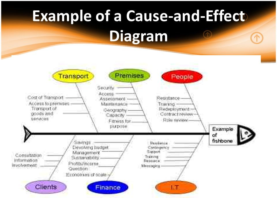 Example of a Cause-and-Effect Diagram