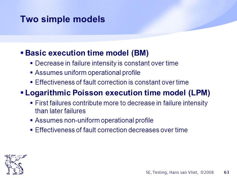Two simple models Basic execution time model (BM)