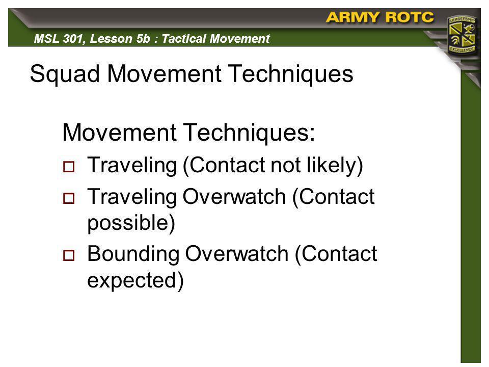 Squad Movement Techniques