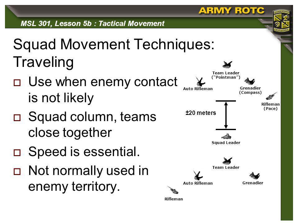 Squad Movement Techniques: Traveling