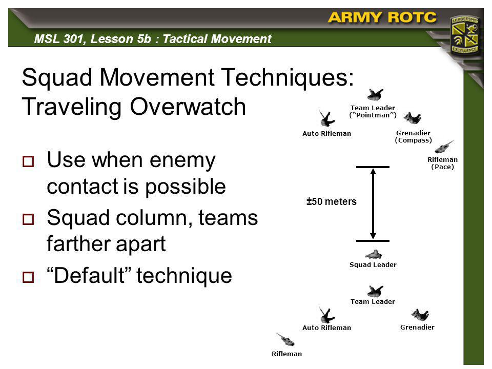 Squad Movement Techniques: Traveling Overwatch
