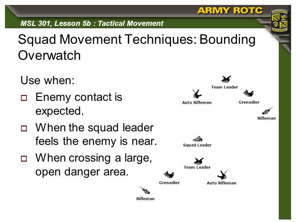 Squad Movement Techniques: Bounding Overwatch