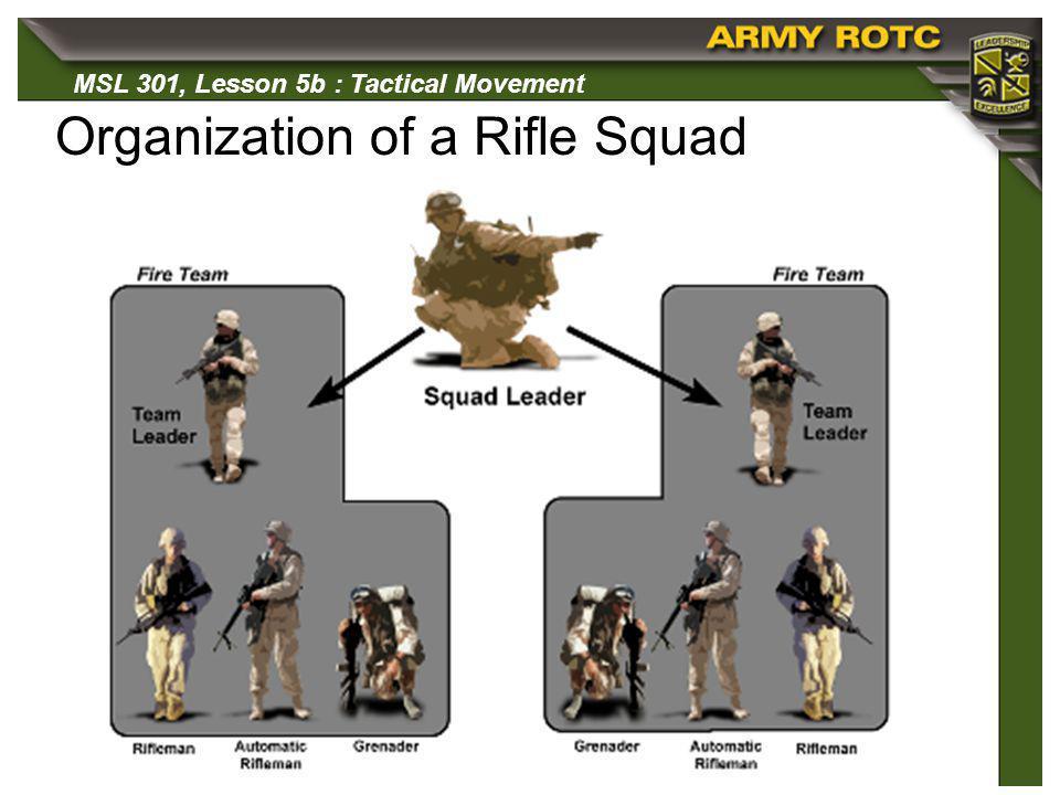 Organization of a Rifle Squad