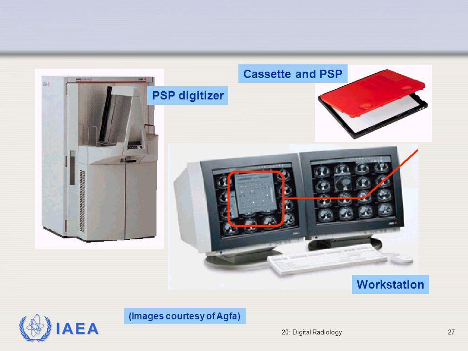 Cassette and PSP PSP digitizer Workstation (Images courtesy of Agfa)