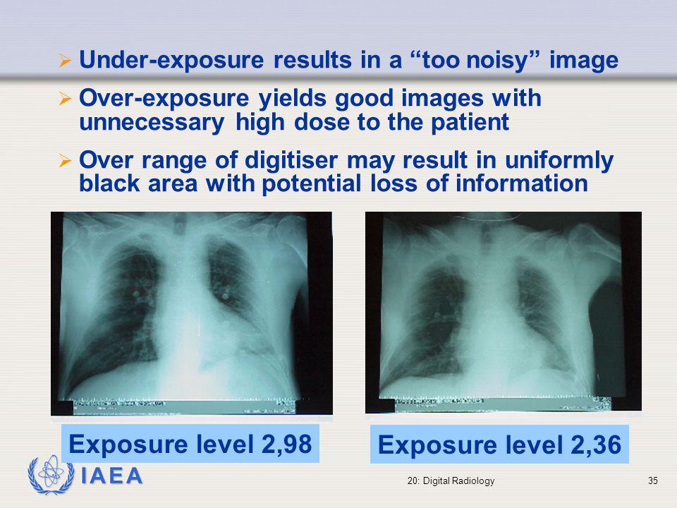 Exposure level 2,98 Exposure level 2,36